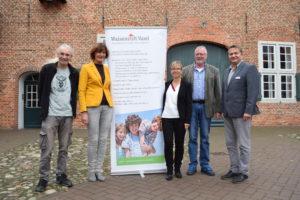 Im Bild (von links): Detlev Janßen, Claudia Preuß, Elke Pohl, Wolfgang Lendzion und Frank Diekhoff.