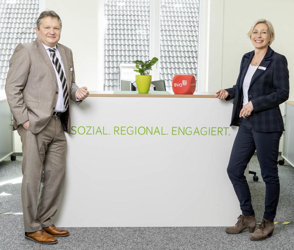 Frank Diekhoff, Verbandsgeschäftsführer und Karin Harms, stellvertretende Verbandsgeschäftsführerin