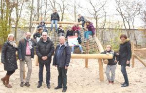 Der Spielplatz der Von-Aldenburg-Schule wird gut von den Kindern angenommen
