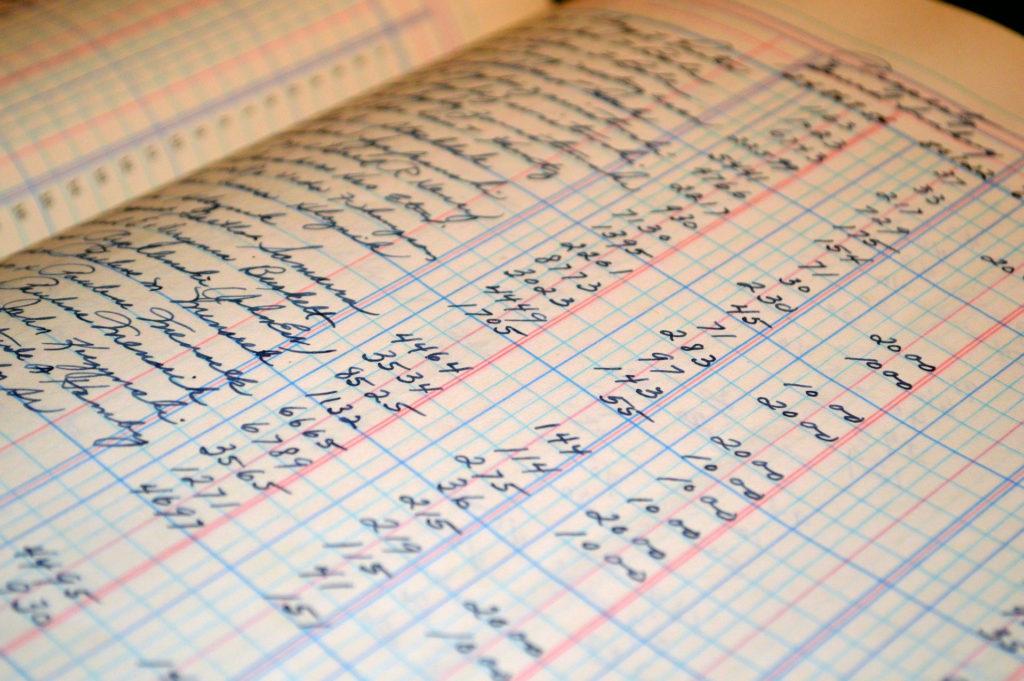 Handschriftliches Hauptbuch